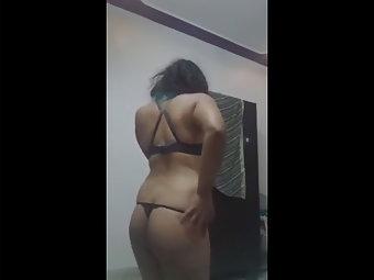 Hot Desi Babe In Black Lingerie