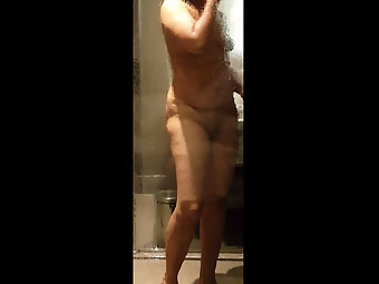 Indian Hot Wife Taking Shower