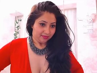 Hot Indian Babe Hot Sexy Red Lingerie